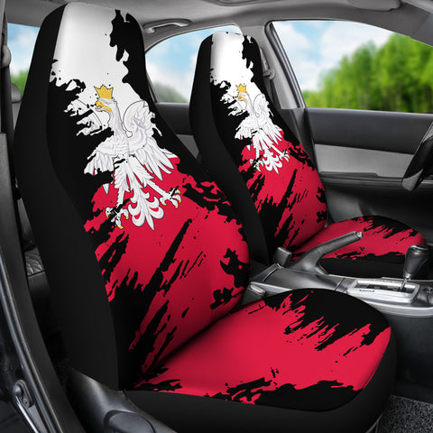 Image of Poland Painting Car Seat Cover