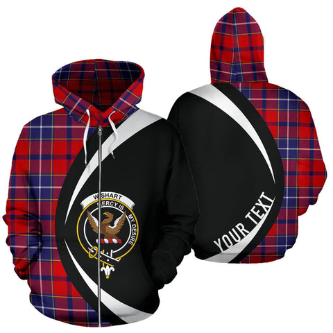 (Custom your text) Wishart Dress Tartan Circle Zip Hoodie HJ4
