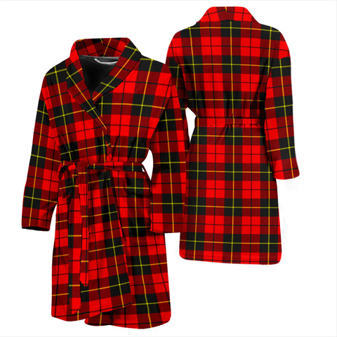 Wallace Hunting - Red Tartan Men's Bathrobe - BN04
