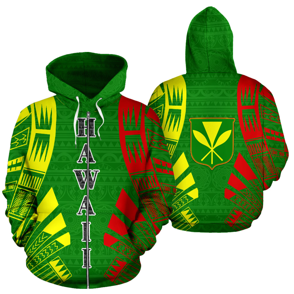 Hawaii, Kanaka Maoli, All Over Zip-Up Hoodie, Hawaii Kanaka Maoli Zip-Up Hoodie, zip-up hoodie