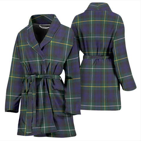 Campbell Argyll Modern Bathrobe - Women Tartan Plaid Bathrobe Universal Fit
