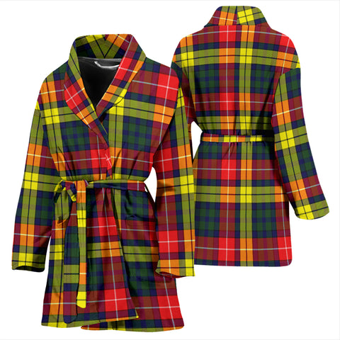 Buchanan Modern Bathrobe - Women Tartan Plaid Bathrobe Universal Fit