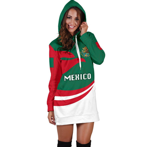 Image of Mexico Women Hoodie Dress Proud Version K4