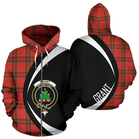 Grant Weathered Tartan Circle Zip Hoodie HJ4
