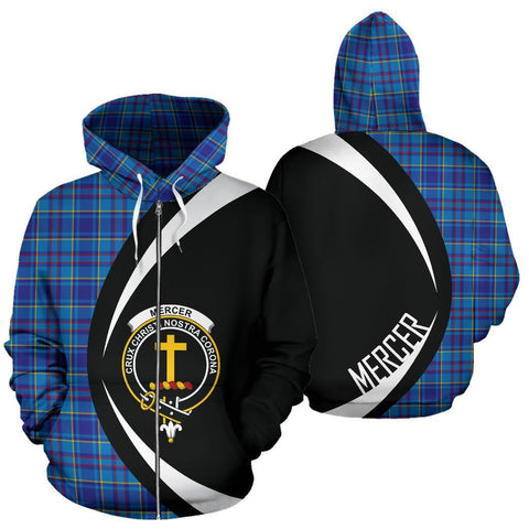 Image of Mercer Modern Tartan Circle Zip Hoodie HJ4