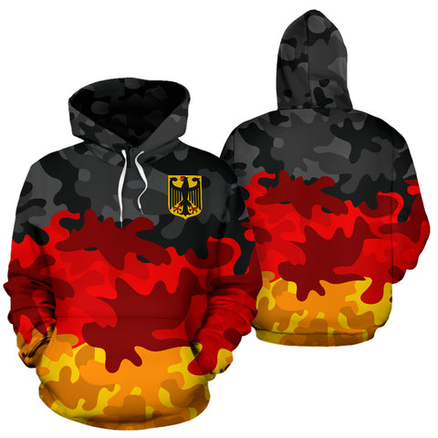 German Camo Hoodie by 1sttheworld for Men and Women