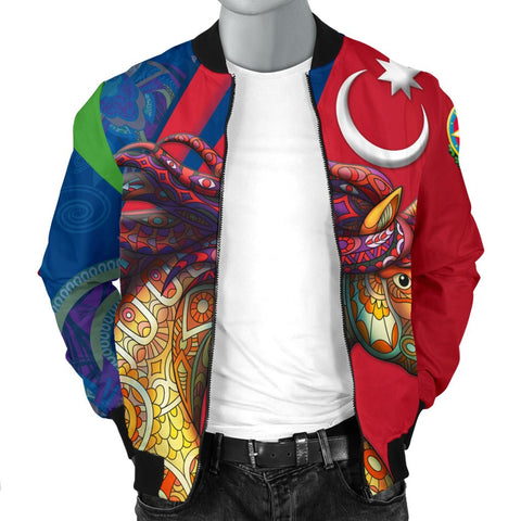 Azerbaijan Pride and Heritage Men's Bomber Jacket - Happy Independence Day - BN21