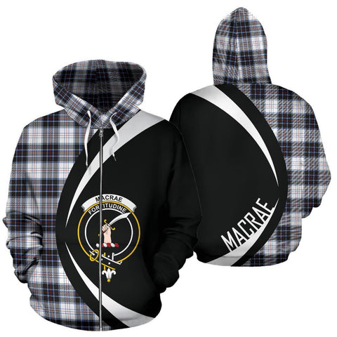 MacRae Dress Modern Tartan Circle Zip Hoodie HJ4