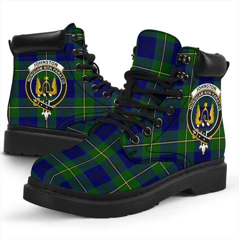 Johnston Modern Tartan Clan Crest All-Season Boots HJ4