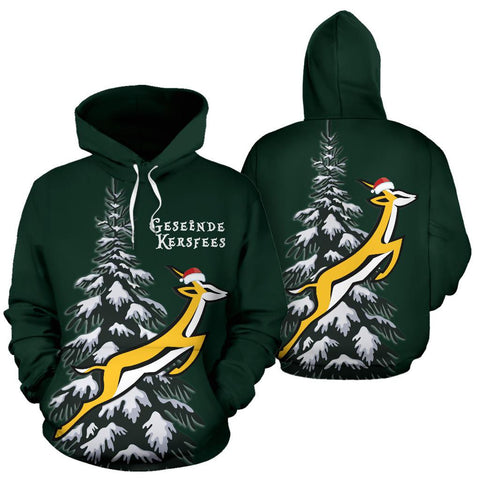 Image of Springboks Christmas Hoodie - Fir Tree
