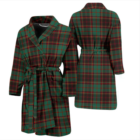 Buchan Ancient Bathrobe - Men Tartan Plaid Bathrobe Universal Fit