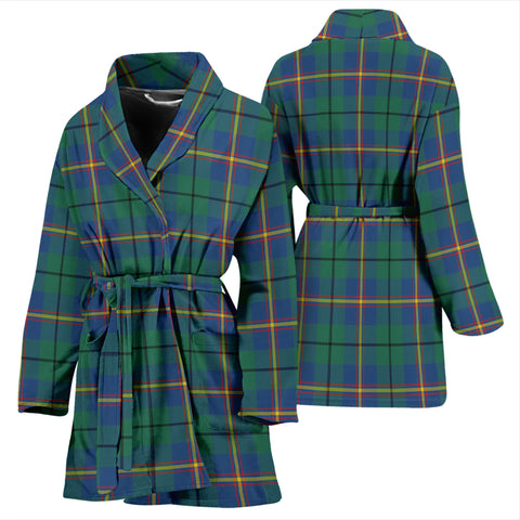 Carmichael Ancient Bathrobe - Women Tartan Plaid Bathrobe Universal Fit