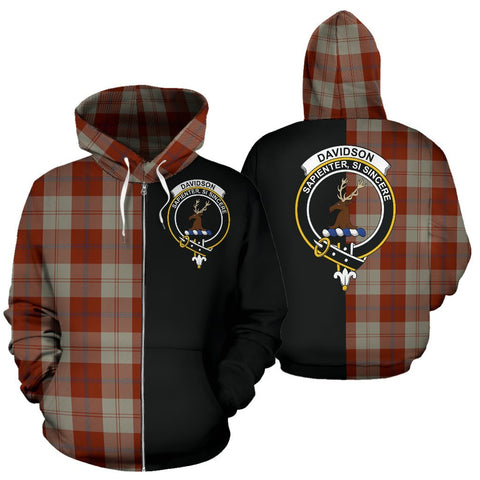 Image of (Custom your text) Davidson Dress Dancers Tartan Hoodie Half Of Me TH8