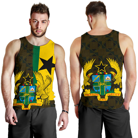 Ghana Coat Of Arm Kente Men's Tank Top