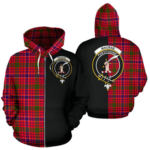 Image of MacRae Modern Tartan Hoodie Half Of Me TH8