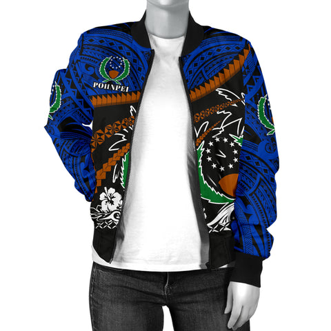 Pohnpei Women Bomber Jacket - Road to Hometown K4