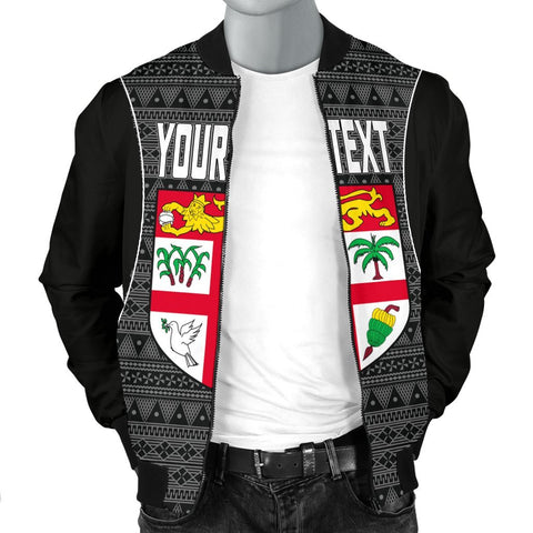 Fiji Custom Personalised Men's Bomber Jacket - Tapa Pattern Sport Style - BN39
