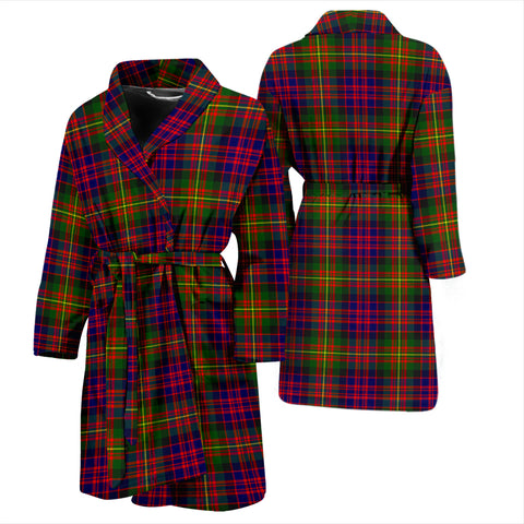 Carnegie Modern Bathrobe - Men Tartan Plaid Bathrobe Universal Fit