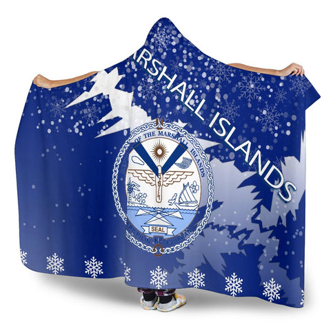 Marshall Islands Coat Of Arms Hooded Blanket