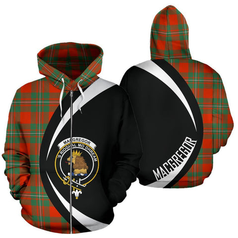 MacGregor Ancient Tartan Circle Zip Hoodie HJ4