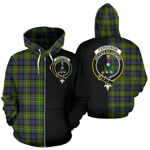 (Custom your text) Fergusson Modern Tartan Hoodie Half Of Me TH8
