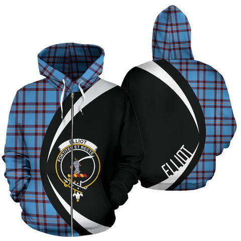 Elliot Ancient Tartan Circle Zip Hoodie HJ4