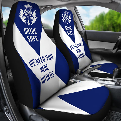 Image of Scotland Car Seat Covers (Set Of 2) - Drive Safe | Custom Design