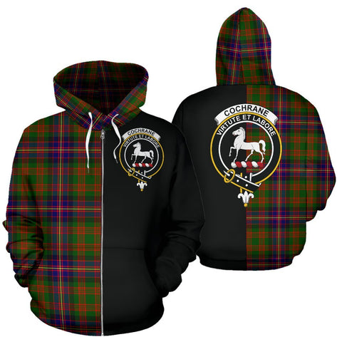 (Custom your text) Cochrane Modern Tartan Hoodie Half Of Me TH8