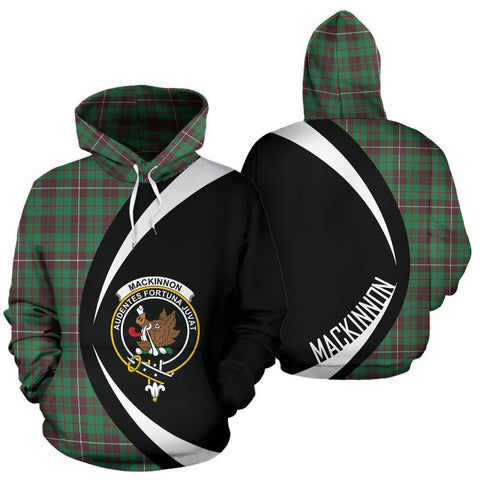 MacKinnon Hunting Ancient Tartan Circle Hoodie HJ4