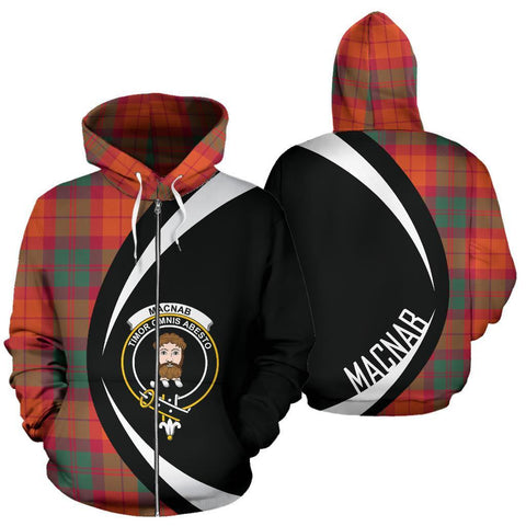 Image of MacNab Ancient Tartan Circle Zip Hoodie HJ4