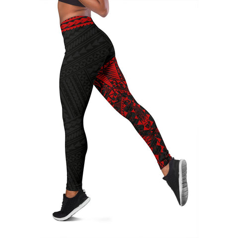 Polynesian Leggings Turtle Tattoo Red A62