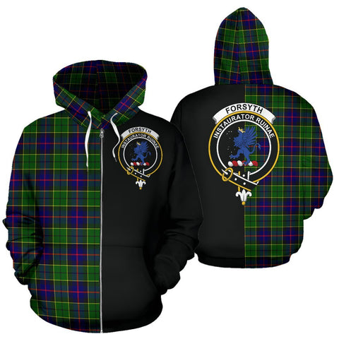 (Custom your text) Forsyth Modern Tartan Hoodie Half Of Me TH8