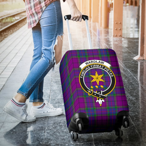 Image of Wardlaw Tartan Clan Badge Luggage Cover Hj4 | Love The World