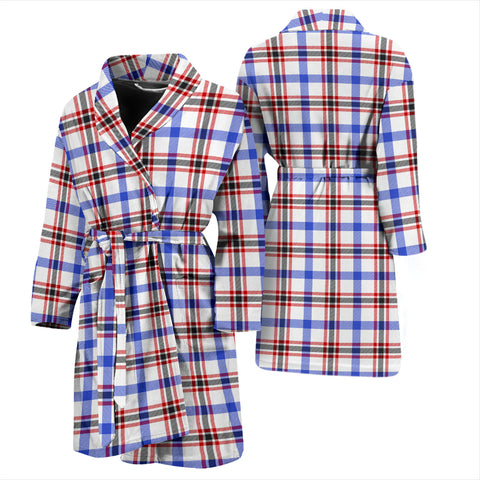 Image of Boswell Modern Bathrobe - Men Tartan Plaid Bathrobe Universal Fit