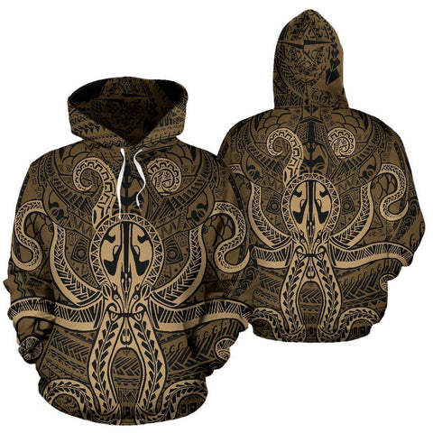 Image of Polynesian Hoodie Octopus Tattoo