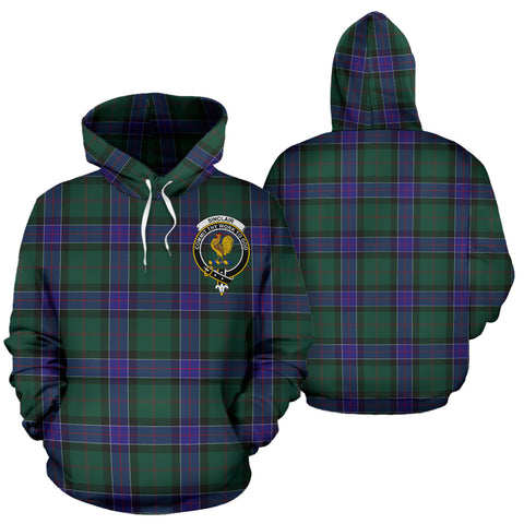Sinclair Hunting Tartan Clan Badge Hoodie HJ4