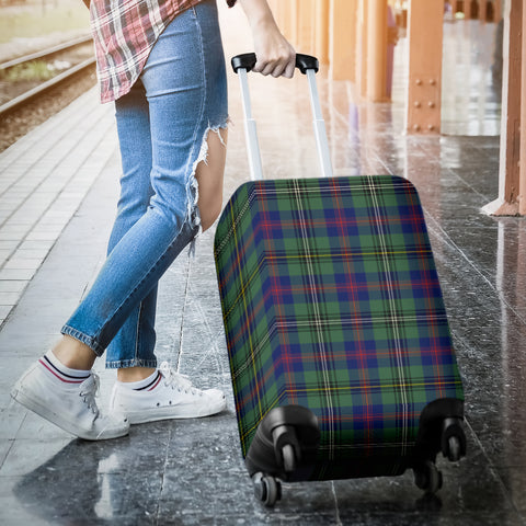 Image of Wood Modern Tartan Luggage Cover Hj4 | Love The World