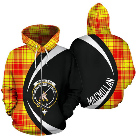 Image of MacMillan Clan Tartan Circle Zip Hoodie HJ4
