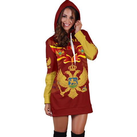 Montenegro Style Women Hoodie Dress K9 |Women's Clothing| 1sttheworld