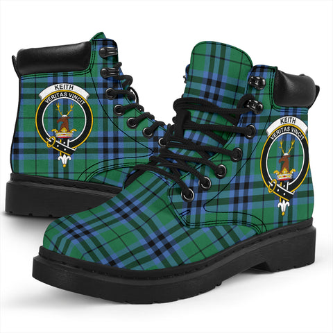 Keith Ancient Tartan Clan Crest All-Season Boots HJ4