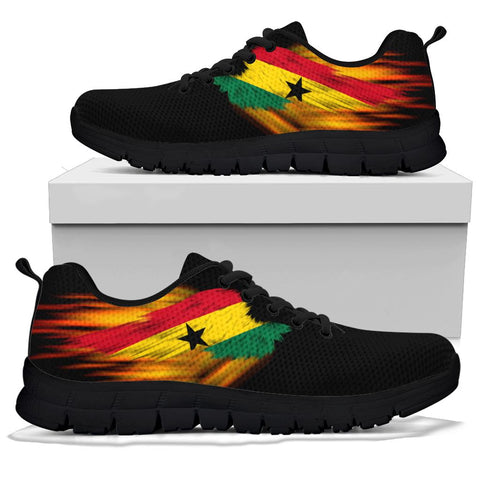 Ghana Sneakers - Fire Wings and Flag | LOVE THE WORLD
