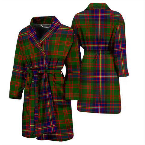 Cochrane Modern Bathrobe - Men Tartan Plaid Bathrobe Universal Fit