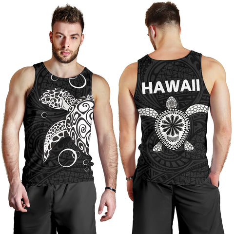 Hawaii Turtle Men Tank Top - Polynesian Style Bn10