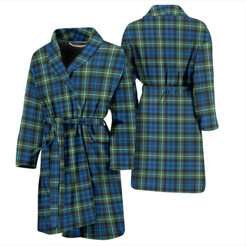 Lamont Ancient Bathrobe - Men Tartan Plaid Bathrobe Universal Fit