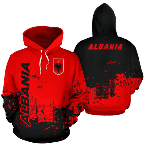 Albania All Over Hoodie - Smudge Style Back