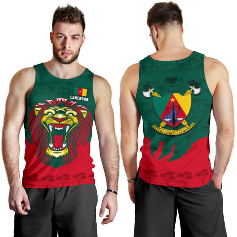 Cameroon Men Tank Top Lion K4