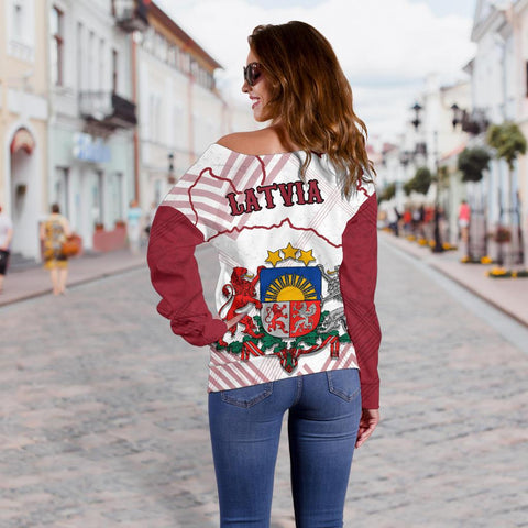 Image of Latvia Off Shoulder Sweater K5