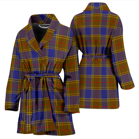 Image of Balfour Modern Bathrobe - Women Tartan Plaid Bathrobe Universal Fit