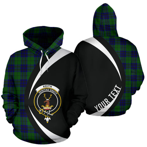 (Custom your text) Keith Modern Tartan Circle Hoodie HJ4