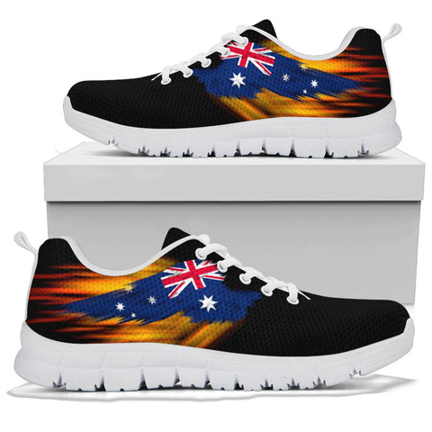 Australia Sneakers - Fire Wings and Flag A188